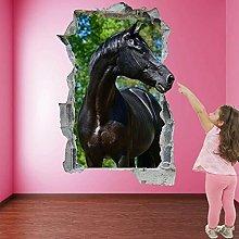 Adesivi murali cavallo nero Adesivo murale Stampa