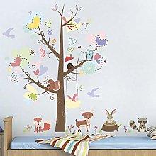 Adesivi murali cervi scoiattolo scimmia per