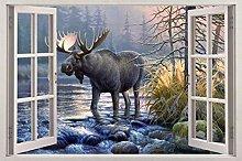 Adesivi murali Cervo animale fauna selvatica