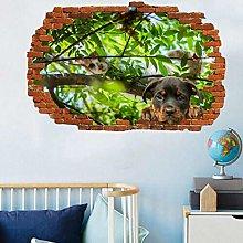 Adesivi Murali Cheeky Kitten Dog Puppy Wall