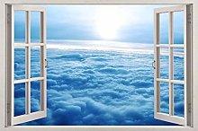 Adesivi murali CLOUDS 3D Window View Decal ADESIVO