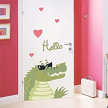 adesivi murali coccodrillo cartone animato per