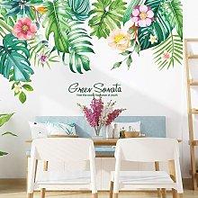 Adesivi murali con fiori tropicali Adesivo
