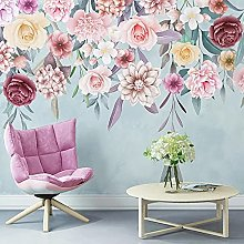 Adesivi murali con foto floreali pastorali moderni