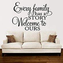 Adesivi Murali Con Scritte Familiari Ogni Famiglia