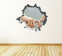 Adesivi murali Coppia amore unità decalcomania
