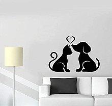 Adesivi Murali Decalcomanie Cani E Gatti Animali