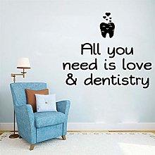 Adesivi murali dentali moderni Arredamento per la