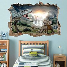 Adesivi murali Dinosauro Smashing Wall Decal