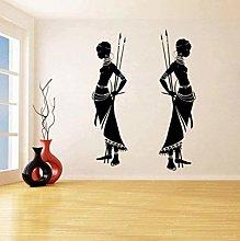 Adesivi murali donna africana tribale Adesivi in