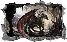 Adesivi murali Drago, adesivo, fantasia, arte