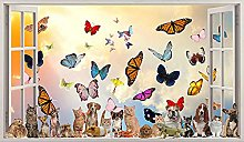 Adesivi murali Farfalle Animali Gatti Cani Adesivi