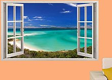 Adesivi Murali Finestra 3D White Paradise Beach