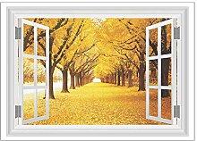 Adesivi murali finestra in PVC 3D Decorazioni per