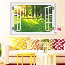 Adesivi murali finestra paesaggio natura 3d