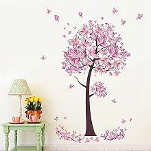 Adesivi Murali Fiori E Farfalle Rosa Wall Stickers