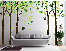 Adesivi murali giungla gigante, 5 alberi, albero