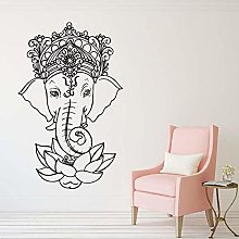 Adesivi Murali In Vinile Elefante Yoga Ganesh