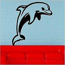 Adesivi murali in vinile rimovibili Dolphin Marine