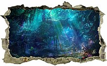 Adesivi murali Incantato, albero, adesivo, 3d,