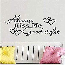 Adesivi Murali, Kiss Me Forever Buona Notte