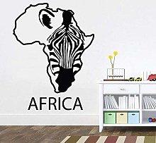 Adesivi Murali Mappa Dell'Africa Adesivo