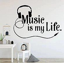 Adesivi murali moderni Musica vita Adesivo