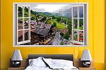 Adesivi Murali Montagna Svizzera ADESIVO DA PARETE