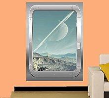 Adesivi Murali MONTAGNA viaggi nello spazio LUNA