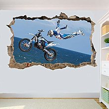 Adesivi Murali Motocicletta fuoristrada Adesivo