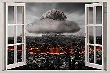 Adesivi murali Nube fumo 3D finestra vista