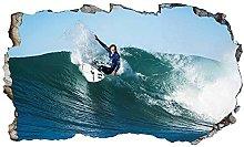 Adesivi murali - Onde Surf Surf 3D Magic Window