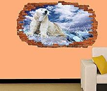 Adesivi Murali ORSO POLARE SUL GHIACCIO OCEANO