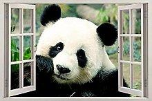 Adesivi murali Panda Bear Window Decal Wall