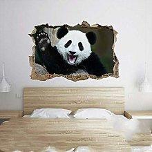 Adesivi Murali Panda sorridente Immagine 3D Buco