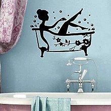 Adesivi Murali Parete Tatuaggio Bagno Staccabile
