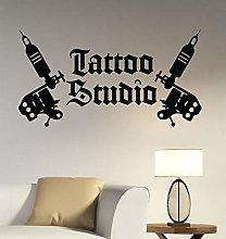 Adesivi murali per soggiorno Viaggi, Tattoo Studio