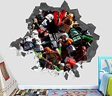 Adesivi Murali Personaggio pianeta fracassare