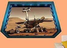 Adesivi Murali Planet Mars Surface Wall Sticker 3D