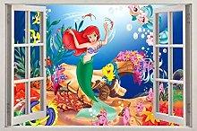 Adesivi murali poster Adesivi pesce 3D Window
