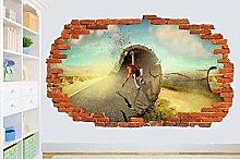 Adesivi murali poster Adesivi SKATEBOARD ON ROAD