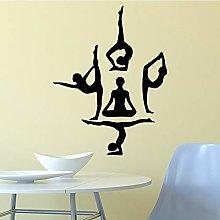 Adesivi Murali Ragazza Yoga Adesivi Murali Moderni