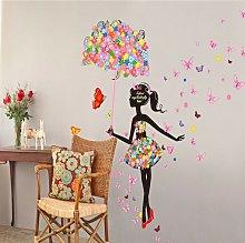 Adesivi murali rimovibili Fate ragazza Ombrello