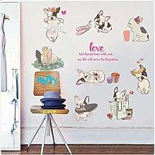 Adesivi Murali Simpatici Bulldog Francesi