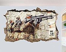 Adesivi Murali Soldato militare Adesivo murale 3D