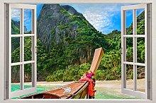 Adesivi Murali spiaggia 3d decalcomania della