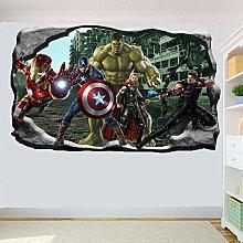 Adesivi Murali Supereroe Azione Adesivo da parete