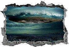 Adesivi murali UFO, 3D, arte della parete,