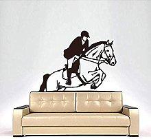 Adesivi Murali Un Uomo Che Cavalca Un Cavallo