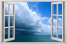 Adesivi Murali Wall View Decal Window 3d Art Decor